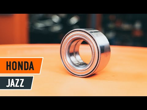 How to replace front wheel bearing HONDA JAZZ 1 TUTORIAL AUTODOC