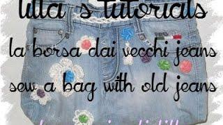 getlinkyoutube.com-Tutorial: come cucire una borsa usando un vecchio jeans