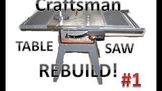 getlinkyoutube.com-Table Saw Rebuild: Examining the saw!