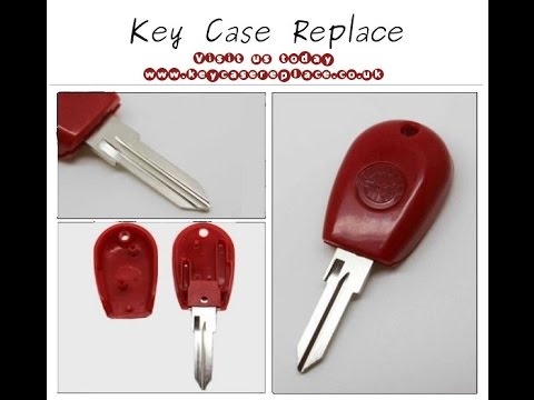 Alfa Romeo Key Shell (GT15R Blade) With Tpx Chip Position Red