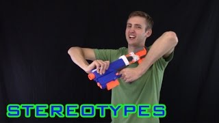 getlinkyoutube.com-NERF STEREOTYPES | THE NOOB