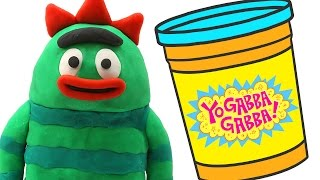 getlinkyoutube.com-Yo Gabba Gabba STOP MOTION Play doh video --- Nesting Doll Toys Animation
