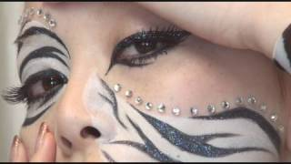 getlinkyoutube.com-Makeup Zebra / ゼブラメイク
