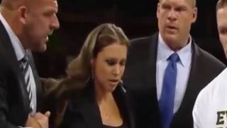 getlinkyoutube.com-Randy Orton Attack Stephanie Ma Mahon & check the reaction of Triple H after this