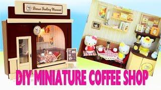 getlinkyoutube.com-DIY Step-by-Step Miniature Coffee Shop Tutorial - 5 Minute Video - simplekidscrafts