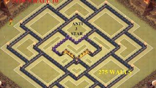 getlinkyoutube.com-CLASH OF CLANS New Tohn Hall 10 War Base - 275 Walls - September 2015 Update