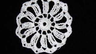 getlinkyoutube.com-Crochet : Motivo #1 (12 puntas)