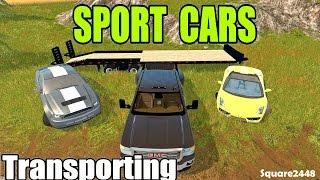 getlinkyoutube.com-Farming Simulator 2017 - Transporting Sport Cars