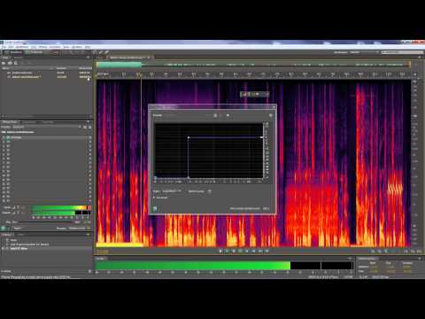 Using Adobe Audition to remove noises from audio clips
