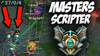 getlinkyoutube.com-MASTERS SCRIPTER vs. FIVE BRONZE PLAYERS (INSANE GAME) 27/0/4  - League of Legends