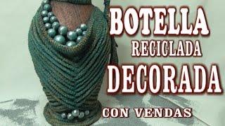 getlinkyoutube.com-DIY JARRON HECHO CON BOTELLA DE CRISTAL - VASE MADE WITH GLASS BOTTLES