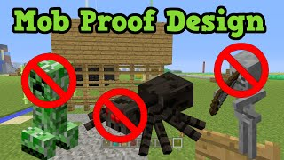getlinkyoutube.com-Minecraft Xbox 360 / PS3 MOB PROOF Wall / House Build Guide