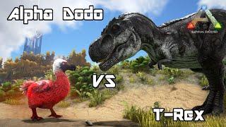 getlinkyoutube.com-ARK: Survival Evolved - Alpha Dodo vs T-REX - Dino Battle