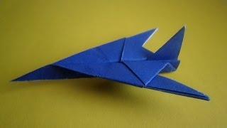 getlinkyoutube.com-оригами самолет истребитель,как сделать из бумаги самолет, how to make origami plane