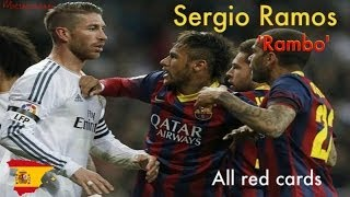 getlinkyoutube.com-Sergio Ramos All Red Cards In His Football Career