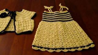 getlinkyoutube.com-Crochet child sundress and matching bolero