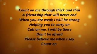 Whitney Houston and CeCe Winans - Count On Me (Lyrics) width=