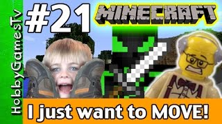 getlinkyoutube.com-Minecraft Floyd #21 I Just Want to Move! Xbox 360 Gameplay Hobbykids + Lego Floyd by HobbyGamesTV