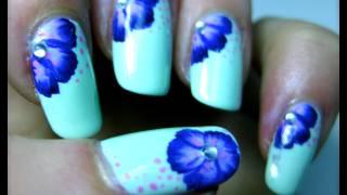 getlinkyoutube.com-Fiore ViolaLilla Nail Art Tutorial