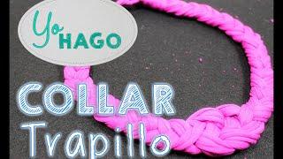getlinkyoutube.com-DIY - Collar de Trapillo