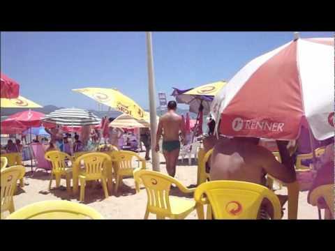FLORIPA PRIMEIRO DIA DE SOL DE 2012 - Situação do trânsito e do movimento na Barra da Lagoa