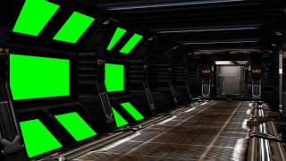 getlinkyoutube.com-Spaceship Interior with sound - green screen set A