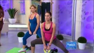 Claudia Molina 2012/01/31 Skinny Jeans Workout on ¡Despierta América! HD