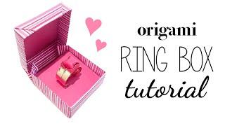 getlinkyoutube.com-Origami Ring Box Instructions ♥ DIY ♥ Tutorial ♥︎