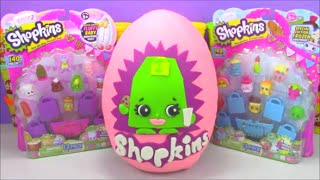 getlinkyoutube.com-Giant Limited Edition Shopkins Surprise Egg Season 2 Lee Tea made of Play-Doh