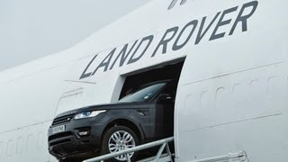 getlinkyoutube.com-Driving the new Range Rover Sport through a Boeing 747