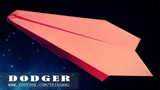 getlinkyoutube.com-Best Paper Planes: How to make a paper airplane that Flies for Kids   Dodger