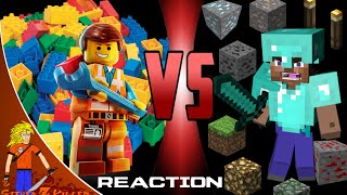 getlinkyoutube.com-MINECRAFT STEVE vs LEGO EMMET Cartoon Fight Club (Reaction)