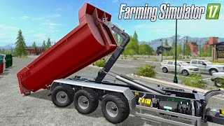 getlinkyoutube.com-Farming Simulator 17 - ITRunner Hooklift & JCB Fastrac 8000 (With Commentary!)