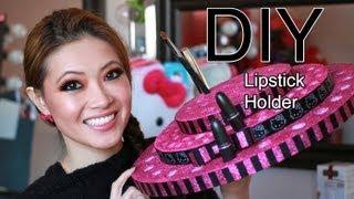 getlinkyoutube.com-DIY Ultimate Lipstick Holder and *Giveaway**Huge Make Up For Ever Package