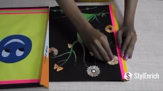 getlinkyoutube.com-Kids Project Ideas: How to Make Kids Project School File Step by Step