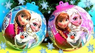 getlinkyoutube.com-Surprise Disney Frozen Christmas Ornaments Toys Eggs Anna Elsa MyLittlePony Fashems