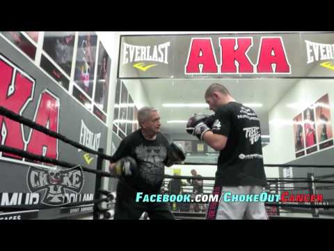 khabib Nurmagomedov training hands for his UFC fight by ChokeOuT Cancer