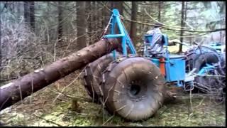 getlinkyoutube.com-Мотоблок МТЗ-05.  Трелёвочник. Walking tractor MTZ-05. Trellevochnik.
