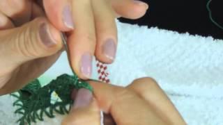 getlinkyoutube.com-Barrado de Crochê em Pano de Prato 2 - Parte 2 (Canhotas)