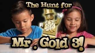 getlinkyoutube.com-The Hunt for MR. GOLD PART 3! EvanTubeHD LEGO Series 10 Minifigure Unboxing & Review