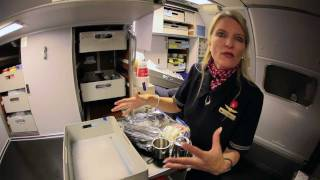 getlinkyoutube.com-Cockpit Chronicles: Behind the scenes with a flight attendant — Crew Meals