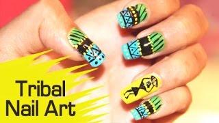 getlinkyoutube.com-Amazing Nail Art - Tribal Nail Art
