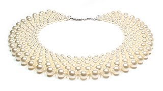 getlinkyoutube.com-Jewelry ❤ DIY: beaded collar / Воротник из бисера своими руками