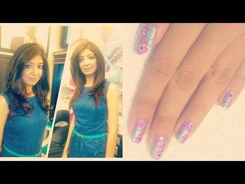Vlog - Juice Salon & Nail Bar (Mumbai-India) Haircut, Highlights Coloring, Hairstyling, NailArt