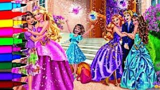 getlinkyoutube.com-Barbie Coloring Book Pages Barbie Disney Princess Kids Brilliant Fun Art Videos Kids Balloons Toys