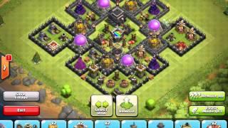getlinkyoutube.com-Clash of Clans: TH9 Anti-Hog Trophy Base Speed Build