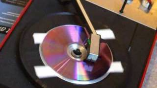 getlinkyoutube.com-Schallplatten schneiden mit Hausmitteln - CD, Stecknadel, Lautsprecher