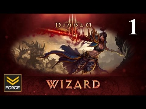 Diablo 3 Beta - Wizard Gameplay (Commentary) Part 1