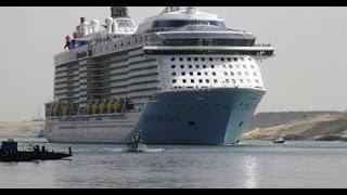 getlinkyoutube.com-عبور اكبر سفينة ركاب بالعالم لقناة السويس الجديدة