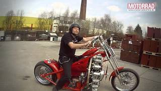 getlinkyoutube.com-Sternmotorbike: Frank Ohle baut Motorrad mit Flugzeugmotor